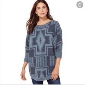 Pendleton Harding Oversized Pullover Sweater S/M